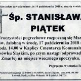 Ś.P. Stanisława Piątek, 14.10.2018 r. Lwówek Śląski