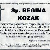 Ś.P. Regina Kozak 16.10.2018 r. Lwówek Śląski – Wleń