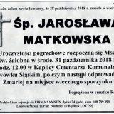 Ś.P. Jarosława Matkowska 28.10.2018 r. Lwówek Śląski