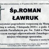 Ś.P. Roman Ławruk 29.10.2018r. Lwówek Śląski – Pławna