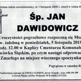 Ś.P. Jan Dawidowicz 1.11.2018 r. Lwówek Śląski