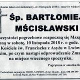 Ś.P. Bartłomiej Mścisławski 2.11.2018 r. Lwówek Śląski