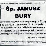 Ś.P. Janusz Bury 3.11.2018 r. Złotoryja – Rokitnica