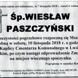 Ś.P. Wiesław Paszczyński 07.11.2018 r. Lwówek Śląski