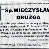 Ś.P. Mieczysław Drużga 8.11.2018 r. Lwówek Śląski – Pławna