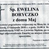 Ś.P. Ewelina Boryczko 2.11.2018 r. Lwówek Śląski