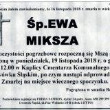 Ś.P. Ewa Miksza 16.11.2018 r. Lwówek Śląski