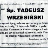 Ś.P. Tadeusz Wrzesiński 19.11.2018 r. Lwówek Śląski