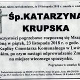 Ś.P. Katarzyna Krupska 19.11.2018 r. Lwówek Śląski