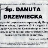Ś.P. Danuta Drzewiecka 24.11.2018 r. Lwówek Śląski