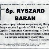 Ś.P. Ryszard Baran 4.12.2018 r. Lwówek Śląski