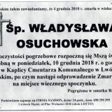 Ś.P. Władysława Osuchowska 4.12.2018 r. Lwówek Śląski