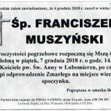 Ś.P. Franciszek Muszyński 4.12.2018 r. Lwówek Śląski – Lubomierz