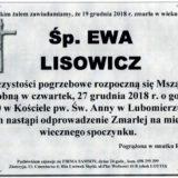 Ś.P. Ewa Lisowicz 7.12.2018 r. Lwówek Śląski – Lubomierz