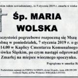 Ś.P. Maria Wolska 05.01.2019 r. Lwówek Śląski
