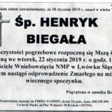 Ś.P. Henryk Biegała 18.01.2019 r. Lwówek Śląski