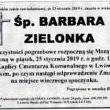 Ś.P. Barbara Zielonka 22.01.2019 r. Lwówek Śląski