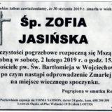 Ś.P. Zofia Jasińska 30.01.2019 r. Lwówek Śląski