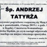Ś.P. Andrzej Tatyrża 31.01.2019 r. Lwówek Śląski