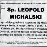 Ś.P. Leopold Michalski 03.02.2019 r. Lwówek Śląski – Płóczki Górne