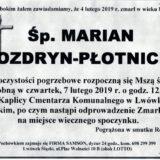 Ś.P. Marian Nozdryn-Płotnicki 04.02.2019 r. Lwówek Śląski