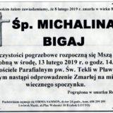 Ś.P. Michalina Bigaj 08.02.2019 r. Lwówek Śląski-Pławna