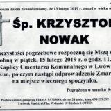 Ś.P. Krzysztof Nowak 13.02.2019 r. Lwówek Śląski