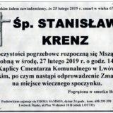 Ś.P. Stanisław Krenz 25.02.2019 r. Lwówek Śląski