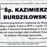 Ś.P. Kazimierz Burdziłowski 05.03.2019 r. Lwówek Śląski