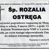Ś.P. Rozalia Ostręga 01.03.2019 r. Lwówek Śląski