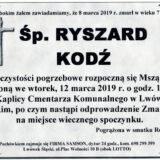 Ś.P. Ryszard Kodź 08.03.2019 r. Lwówek Śląski