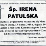 Ś.P. Irena Patulska 09.03.2019 r. Lwówek Śląski