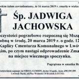 Ś.P. Jadwiga Jachowska 16.03.2019 r. Lwówek Śląski