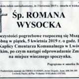 Ś.P. Romana Wysocka 03.04.2019 r. Lwówek Śląski