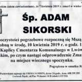 Ś.P. Adam Sikorski 07.04.2019 r. Lwówek Śląski
