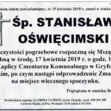 Ś.P. Stanisław Oświęcimski 15.04.2019 r. Lwówek Śląski – Gryfów