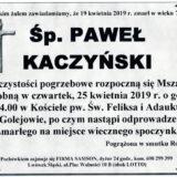 Ś.P. Paweł Kaczyński 19.04.2019 r. Lwówek Śląski – Golejów