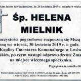 Ś.P. Helena Mielnik 26.04.2019 r. Lwówek Śląski