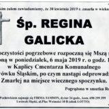 Ś.P. Regina Galicka 30.04.2019 r. Lwówek Śląski