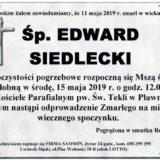 Ś.P. Edward Siedlecki 11.05.2019 r. Lwówek Śląski – Pławna