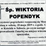 Ś.P. Wiktoria Popendyk 14.05.2019 r. Lwówek Śląski – Sobota