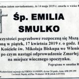 Ś.P. Emilia Smulko 14.05.2019 r. Lwówek Śląski – Wleń