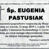 Ś.P. Eugenia Pastusiak 17.05.2019 r. Lwówek Śląski