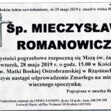 Ś.P. Mieczysław Romanowicz 25.05.2019 r. Lwówek Śląski – Rząsiny