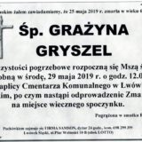 Ś.P. Grażyna Gryszel 25.05.2019 r. Lwówek Śląski