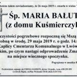 Ś.P. Maria Bałut 26.05.2019 r. Lwówek Śląski