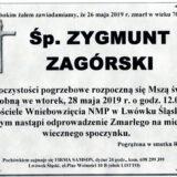 Ś.P. Zygmunt Zagórski 26.05.2019 r. Lwówek Śląski