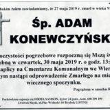 Ś.P. Adam Konewczyński 27.05.2019 r. Lwówek Śląski – Wleń