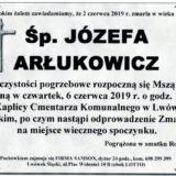 Ś.P. Józefa Arłukowicz 02.06.2019 r. Lwówek Śląski