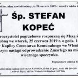 Ś.P. Stefan Kopeć 20.06.2019 r. Lwówek Śląski – Wleń
